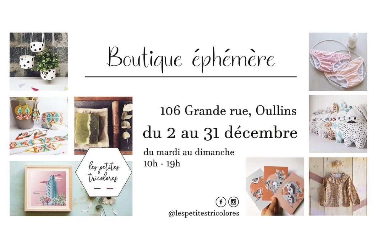 boutique ephémère les petites tricolores Oullins décembre